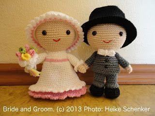 Brautpaar Amigurumi Amigurumi Häkelanleitungen Von K And J Dolls