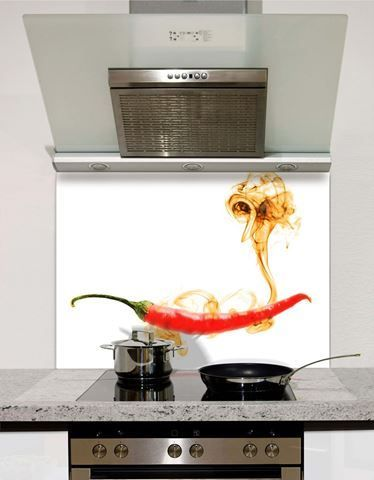 Heart of the Home Black 2 Heat Resistant Toughened Printed Glass Splashback