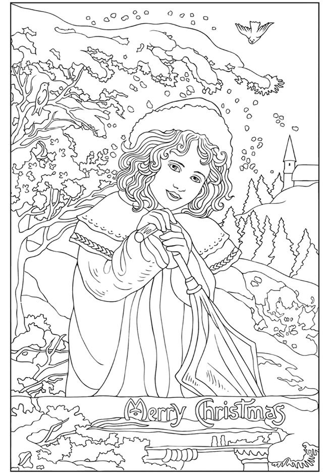 Welcome To Dover Publications Creative Haven Vintage Christmas Greetings Coloring Book Marty Noble