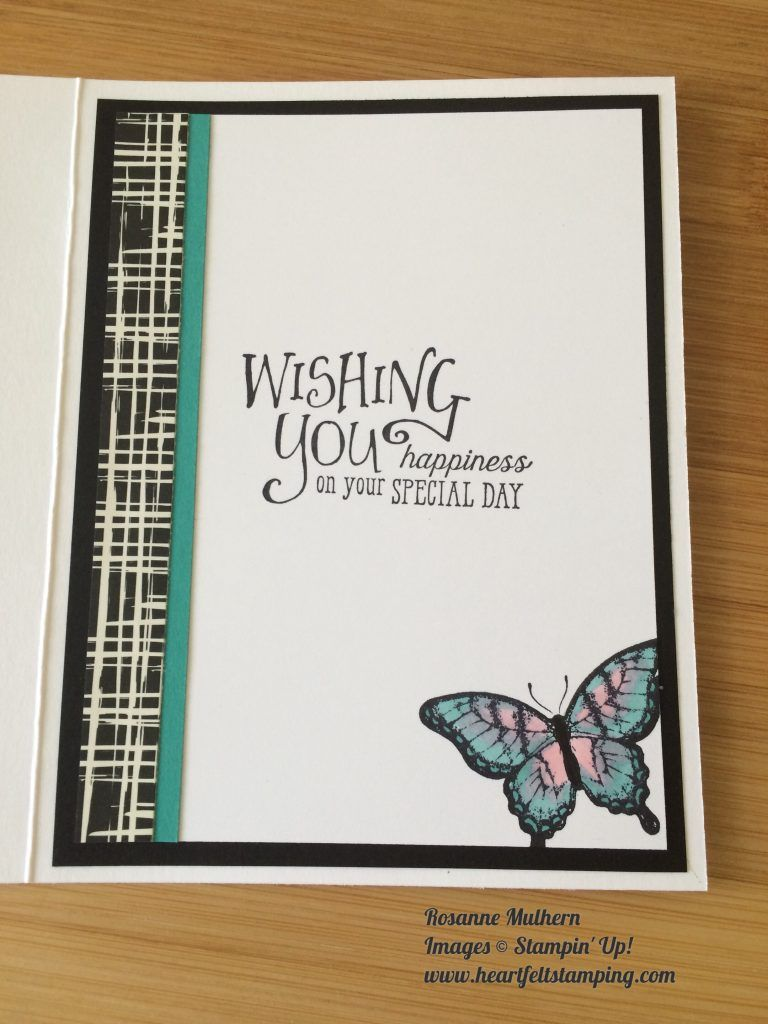 Inside View Oh Handmade Card Butterfly Birthday From Heartfelt Stamping Stampin Up