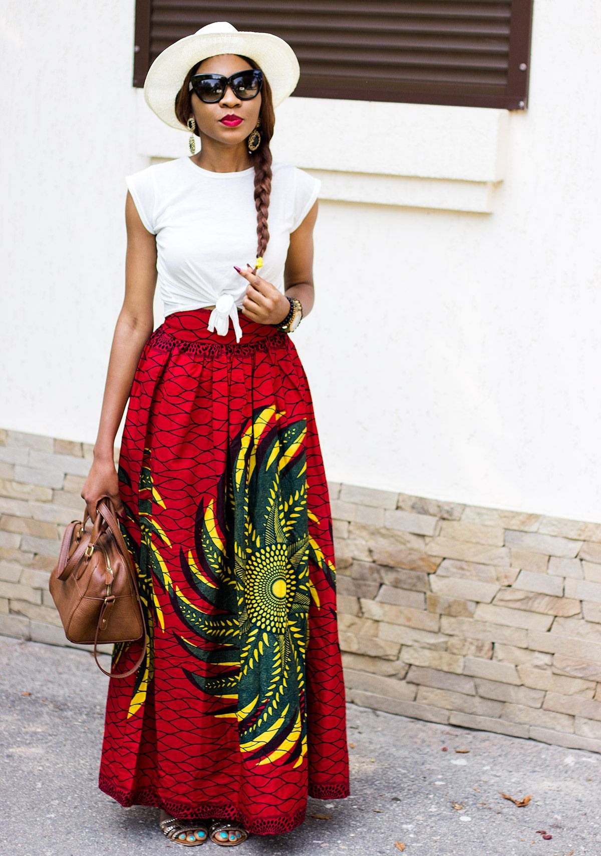 Ankara Full Maxi Skirt I've been obsessed with these long ...