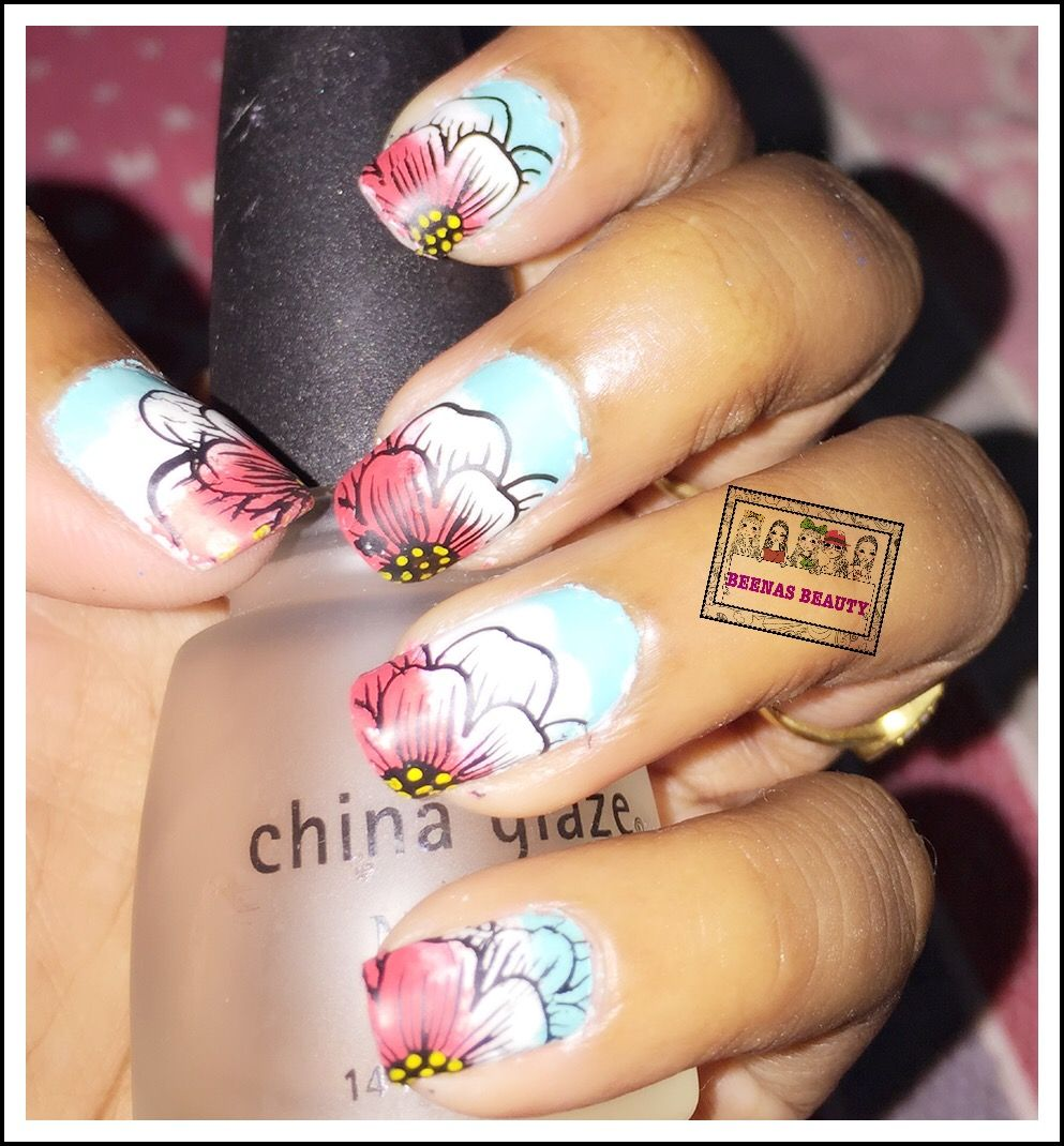 Colorful Flowery Nail Design Stamping Plate Bps Stamping