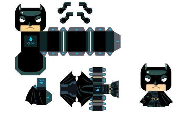 Image Detail For 728 Batman Papertoy Mini Template