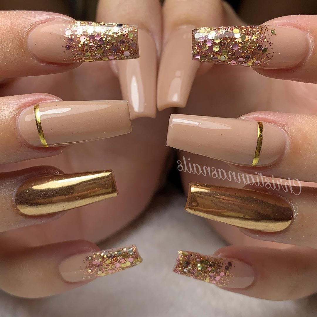 20 rose gold nails styles must inspire you,  #gold #Inspire #NailStyle