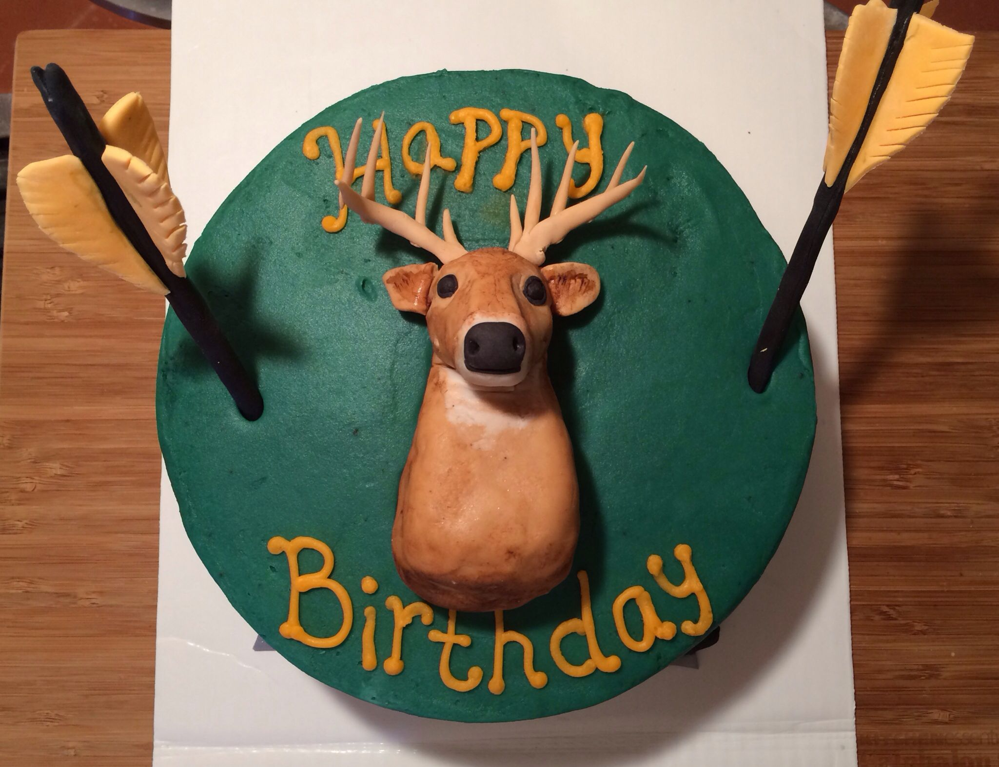 Bow Hunting Birthday Cake I Made For My Hubby Hunting