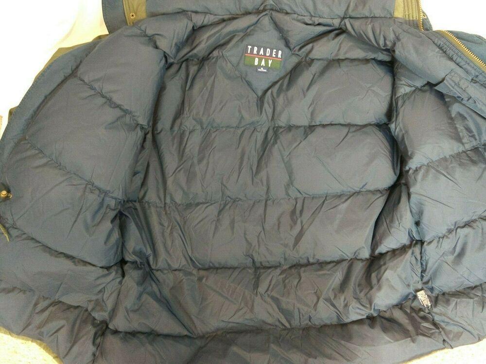 Trader Bay mens size XL Down Puffer winter jacket green coat