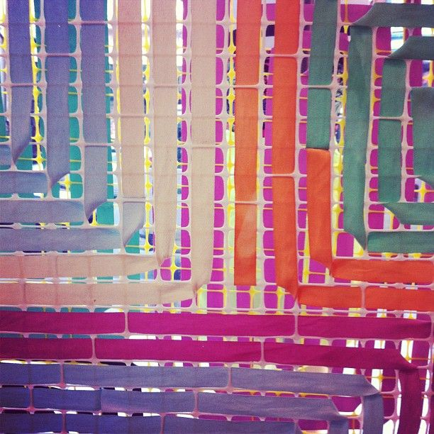 dyed-ribbon-and-fencing splash of color from UO spring display