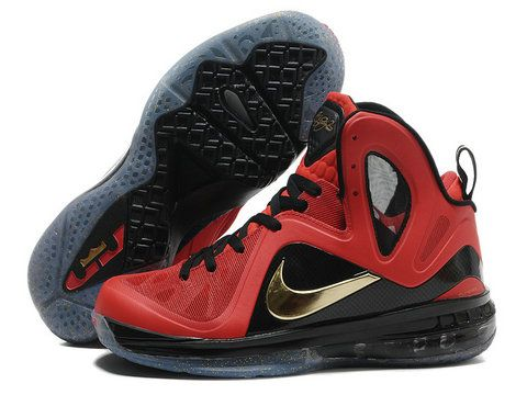 detailed look 7521c efdfd Nike LeBron 9 PS Elite Finals Away PE Red Black Gold Style code  516958-101  The Nike Lebron 9 PS Elite Finals Away PE features a red infused upper  includes ...