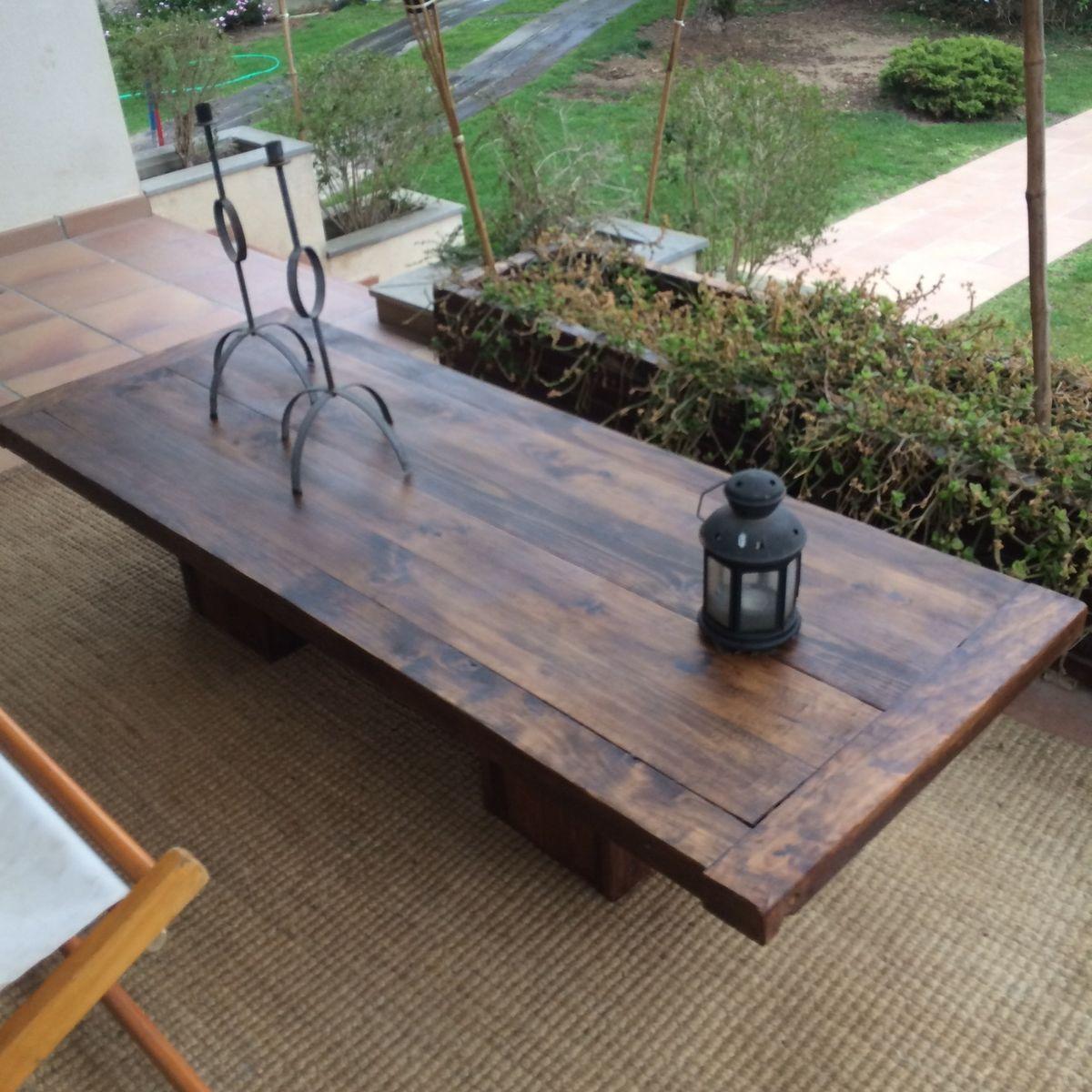 Mesa de centro madera buscar con google mesa centro pinterest mesa de centro madera - Mesa rustica madera ...