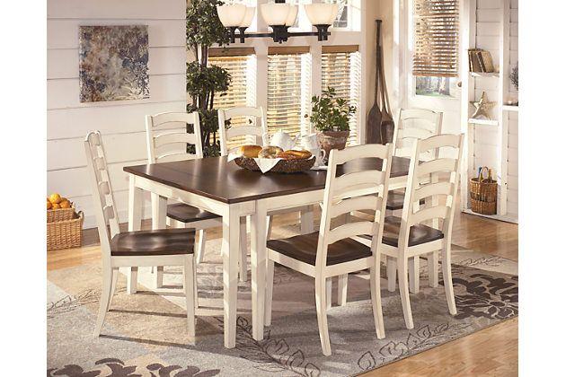 Surprising Ashley Furniture Brown Cottage White Whitesburg Dining Room Interior Design Ideas Apansoteloinfo