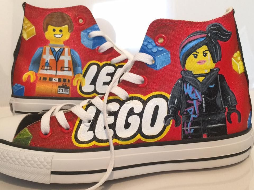 Check Out These Hand Painted Converse Tennis Shoes Lego Movie Minifigure Price Guide Converse Tennis Shoes Painted Converse Tennis Shoes