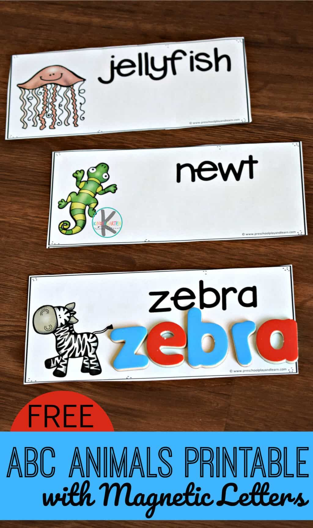 Abc Animals Printable With Magnetic Letters