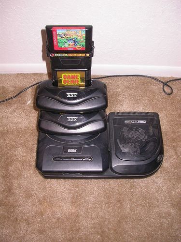 Just pure excess  Sega genesis, with sega cd, 2(32x