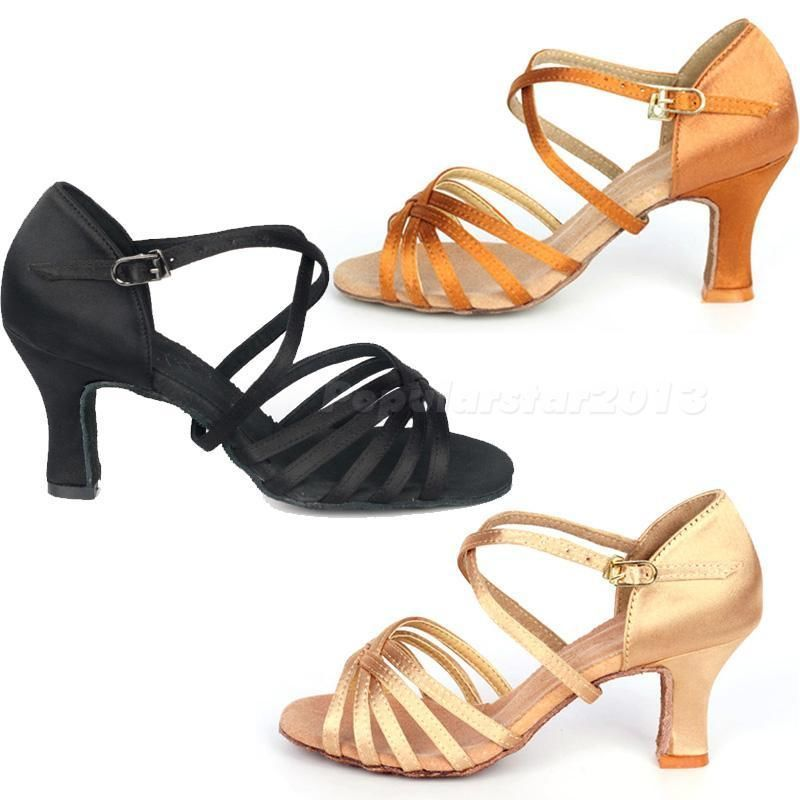Other Hot Sale Women Fashion Rumba Waltz Prom Ballroom Latin Salsa Dance Sexy High Heels Shoes Sandals Ladies Zapatos De Baile 15 Fancy Colours
