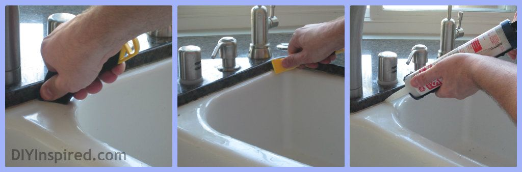 how to caulk your sink sinks housekeeping and household. Black Bedroom Furniture Sets. Home Design Ideas