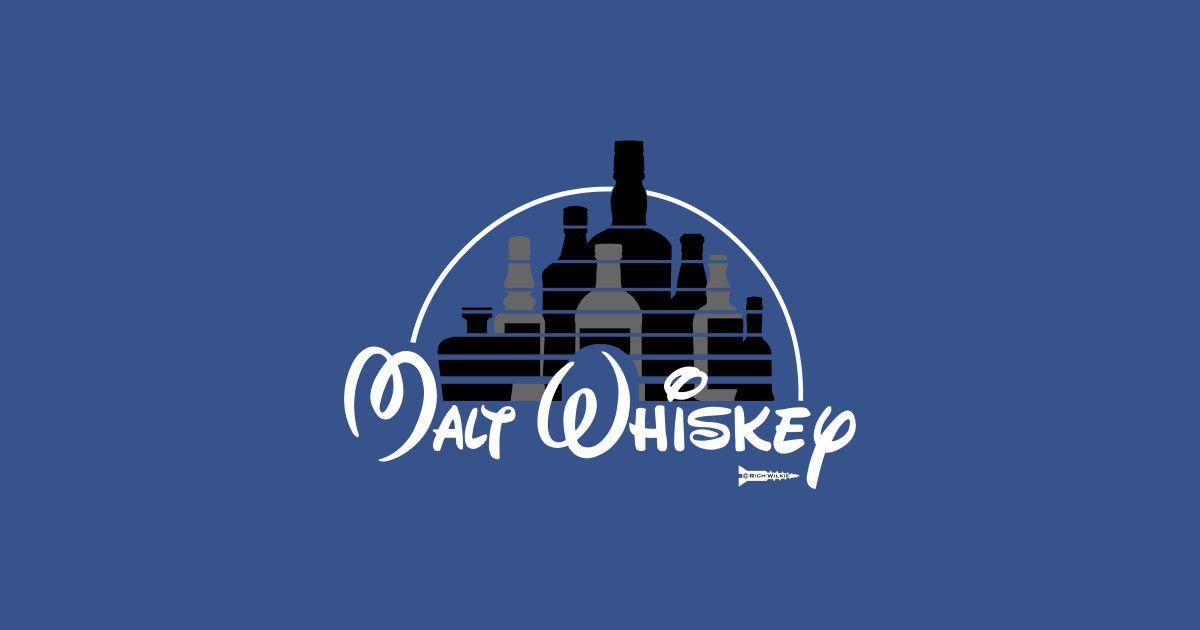 Malz Whiskey T-Shirt Herren Lustige Walt Disney Parodie Whisky