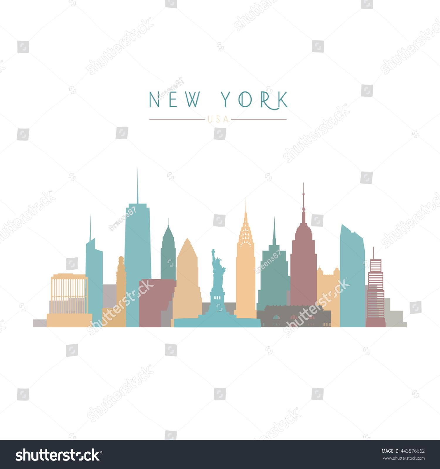 Image Result For Jersey City Skyline Chalk City Skyline Jersey City