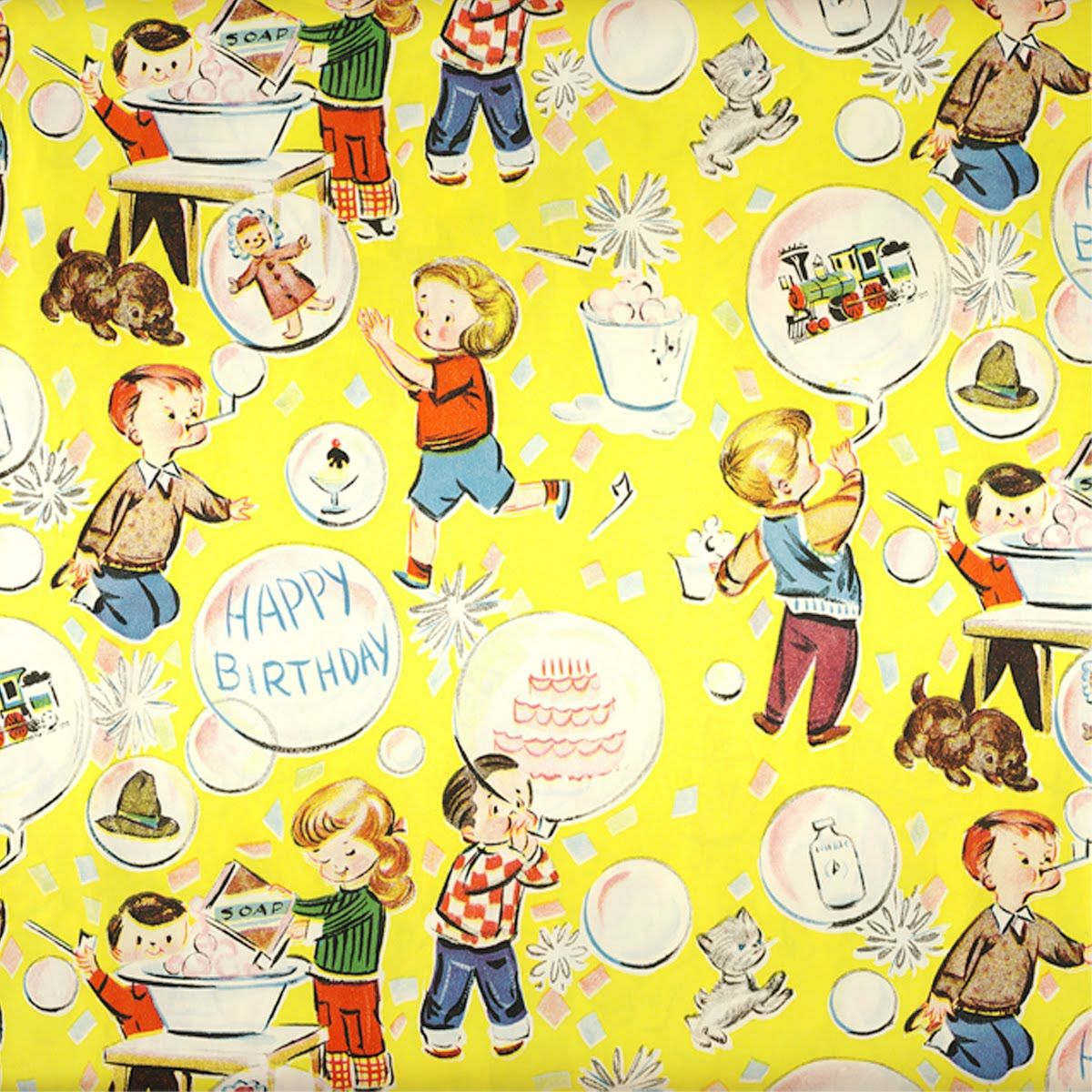 Prettie Vintage Wrapping Paper Birthday Wrapping Paper Vintage Wrapping Paper Vintage Birthday Cards