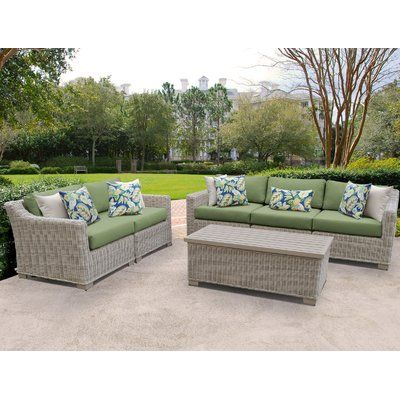 Rosecliff Heights Claire 4 Piece Sofa Seating Group With Cushions
