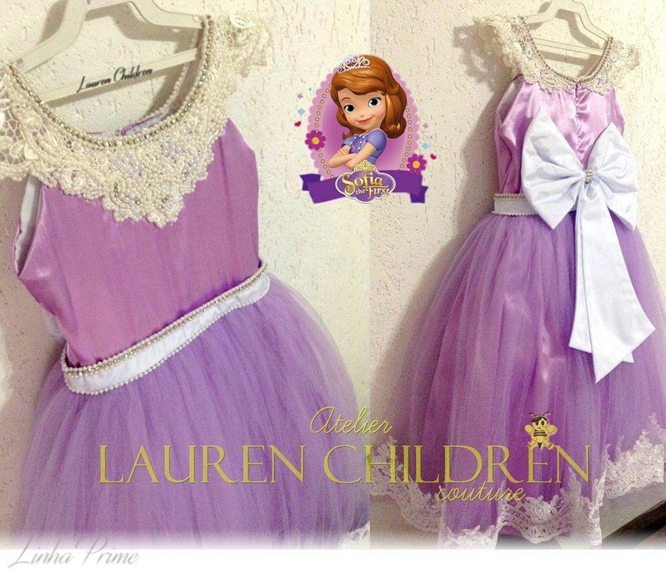 Vestido Princesa Sofia | Vestido princesinha sofia, Vestido princesa ...