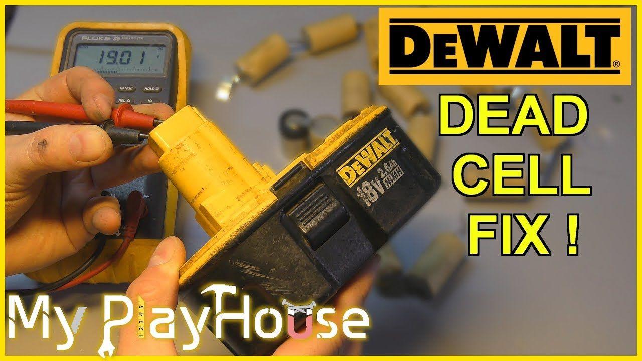 Repairing A Dead 18 Volt Ni Mh Dewalt Battery Pack 763 Battery Repair Car Battery Hacks Dewalt