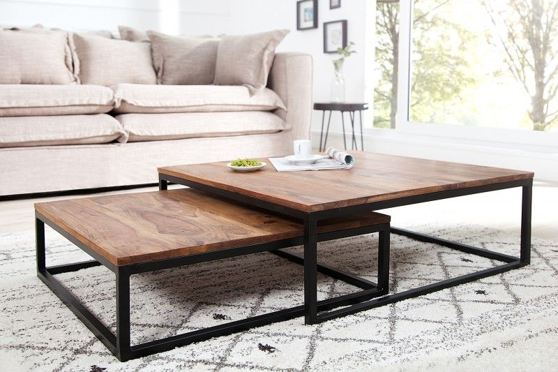 Sada Stolikov Fussion Wood Coffee Table Living Room Coffee Table Home Coffee Tables