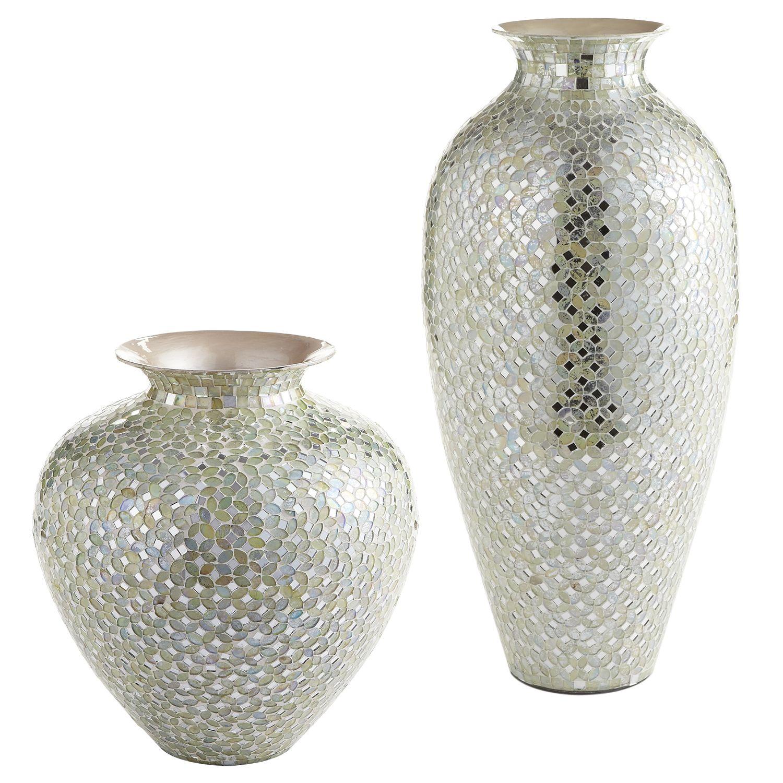 White Amp Silver Mosaic Vases Decor Gt Vases Mosaic
