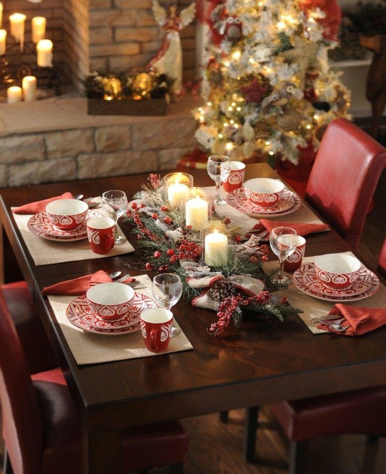 vajilla con motivos navideños Comedores en navidad Pinterest