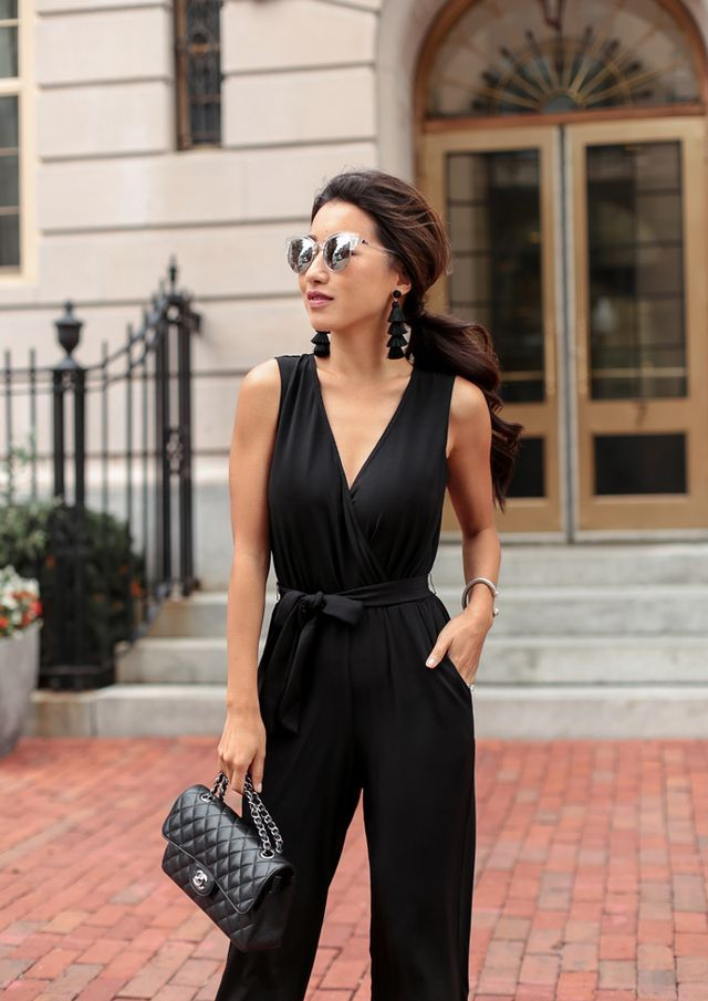 c65b74959809 The black jumpsuit (in petite   regular)    Wedding guest outfit ...