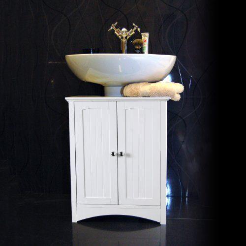 Bathroom Pedestal Sink Storage Cabinet 113