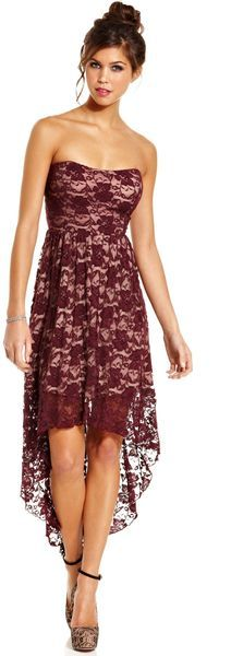Jump Strapless Lace Highlow