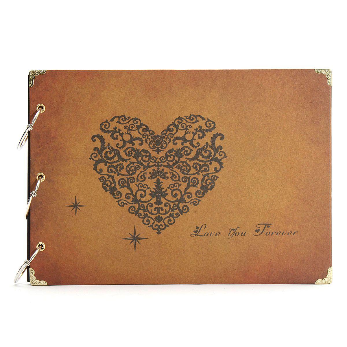 Diy handmade vintage stamping wedding photo album eternal memory
