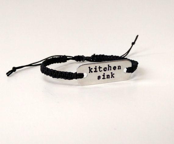 Kitchen Sink Twenty One Pilots Album twenty one pilots kitchen sink stamped bracelet // macrame hemp