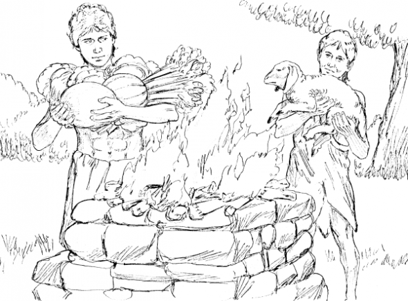cain and abel acceptable and unacceptable sacrifices to god bible coloring page