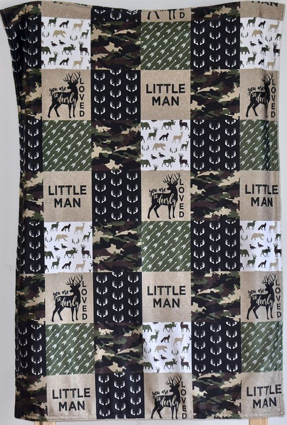 4 OR 5 PIECE SET Camouflage crib bedding Lumberjack camo
