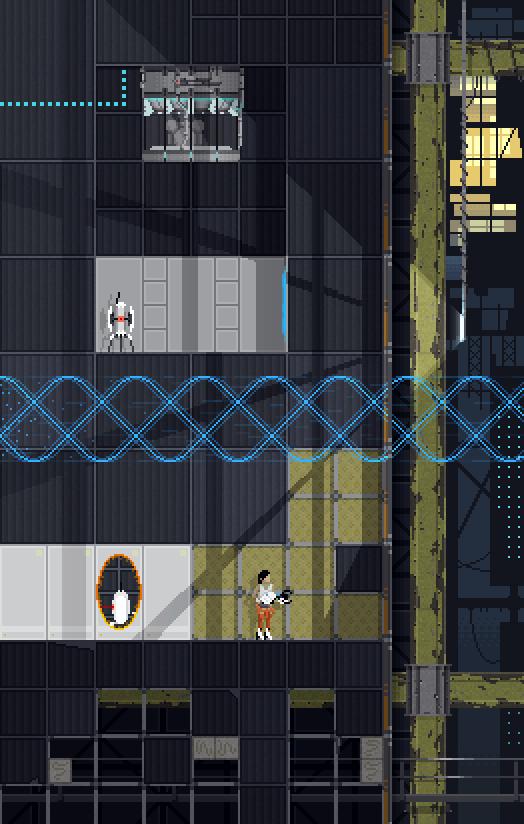 Pixelated Portal 2