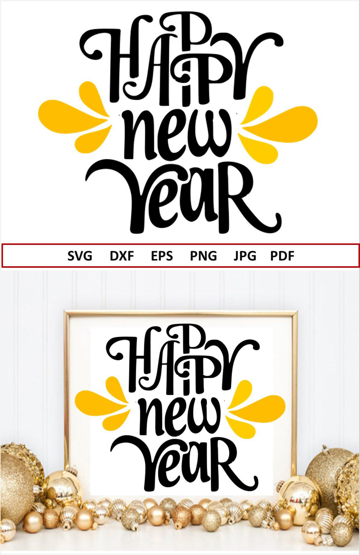 Happy New Year Svg 2019 Svg Files For Silhouette New Years Svg Etsy New Years Eve Decorations Christmas Svg Files Diy Arts And Crafts