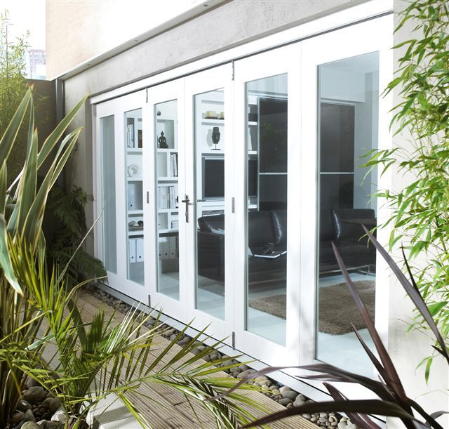 12ft External White Nuvu Pre Finished Folding Door Set 3 6m