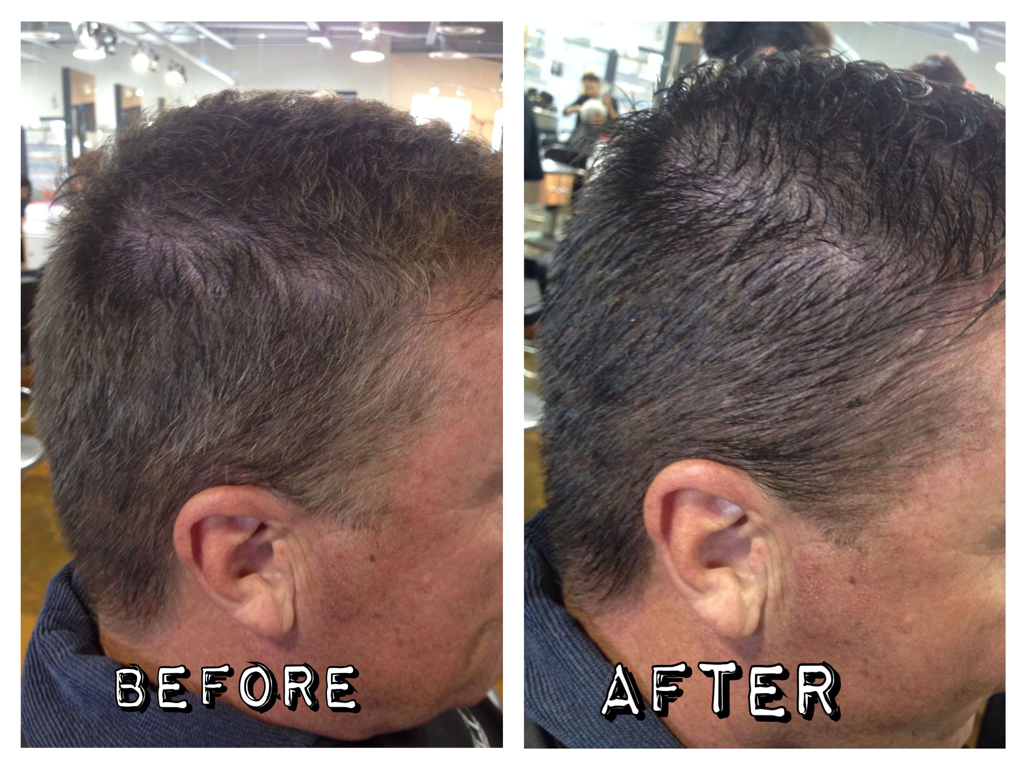 Paul Mitchell Flashback Men S Color Gray Coverage Before And After Gray Coverage Paul Mitchell Cosmetology
