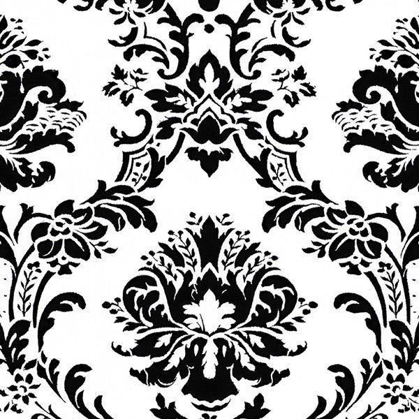 Black And White Victorian Damask Wallpaper Damask Wallpaper