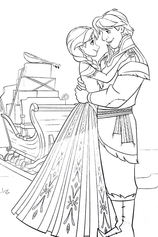 Princess Anna And Kristoff From Frozen Coloring Pages Best Place To Color Frozen Coloring Pages Frozen Coloring Coloring Pages