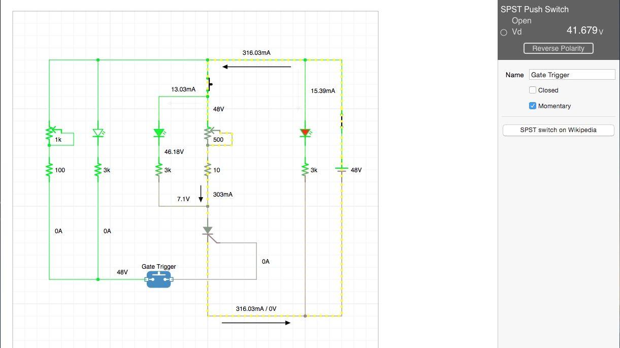 Scr Tester Circuit On Icircuit App Simulator Cool School Diagram