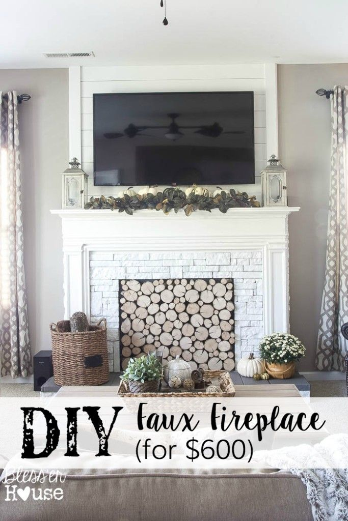 DIY Faux Fireplace For Under $600 {The Big Reveal}   Blessu0027er House. Mantel  IdeasFireplace ...
