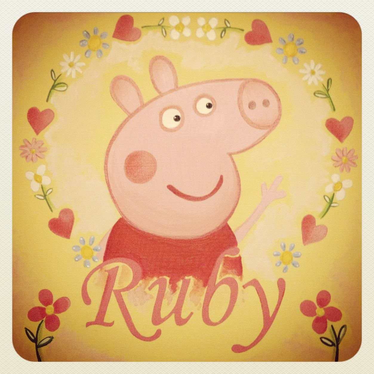 Peppa Pig name canvas | Canvas | Pinterest | Canvases