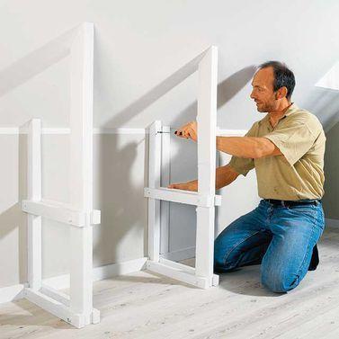 kniestockregal dachschr ge dachboden und dachgeschosse. Black Bedroom Furniture Sets. Home Design Ideas