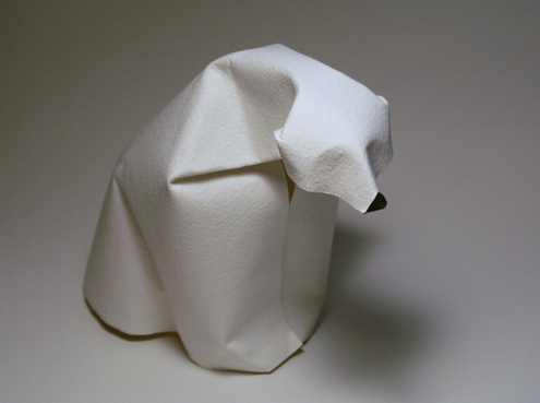 """Dinh Truong Giang. Japanese technique called """"wet folding"""" which allows the paper creations to feature curved and sculpted lines, rather than the angles of traditional origami. Remarkable!"""