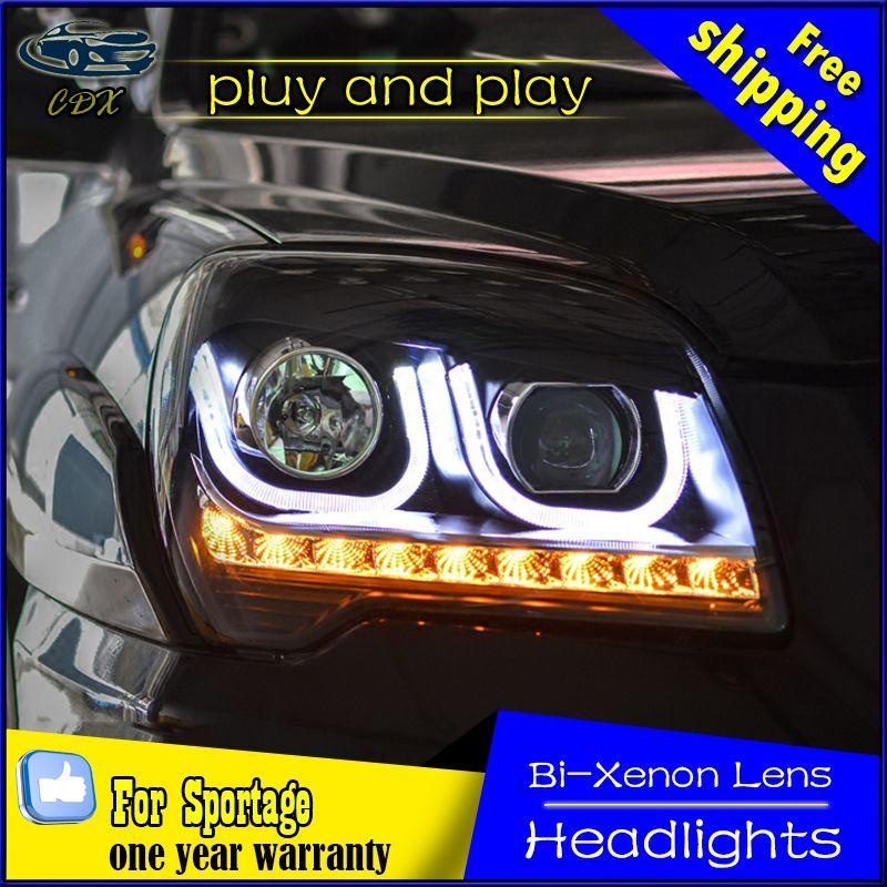 Car Styling For Kia Sportage Headlights U Angel Eyes Drl 2007 2013