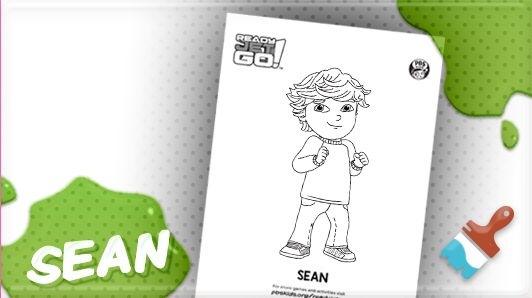 ready jet go activities pbs kids free printable sean coloring page