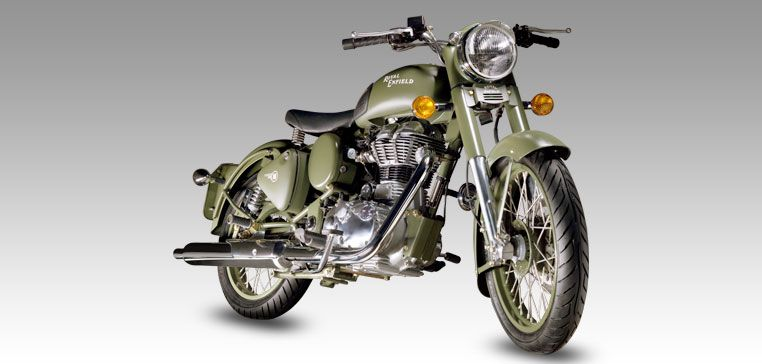 Classic battle green royal enfield manufactured in india