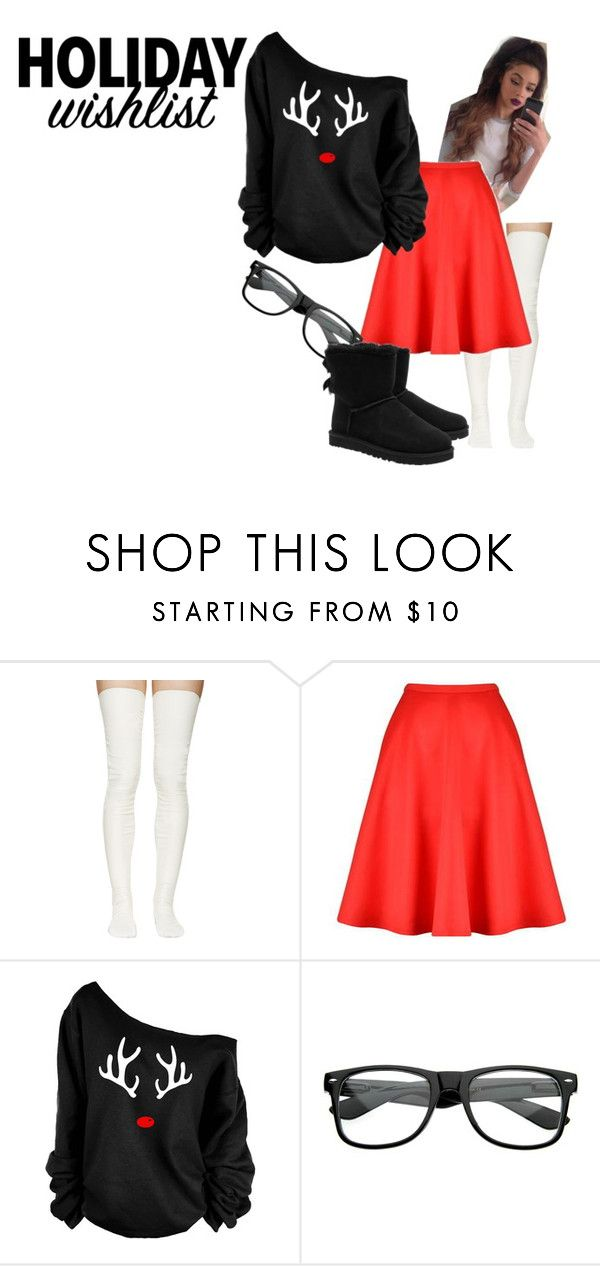 """Untitled #38"" by sairsha2003 ❤ liked on Polyvore featuring Sacai Luck, Ted Baker and UGG Australia"